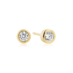 Sif Jakobs Earrings Sardinien Piccolo - 18k gold plated with white zirconia