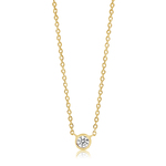 Sif Jakobs Necklace Sardinien Uno - 18k gold plated with white zircon