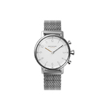 Kronaby Nord38 Ladies Hybrid-Smartwatch steel case round white dial and steel mesh bracelet