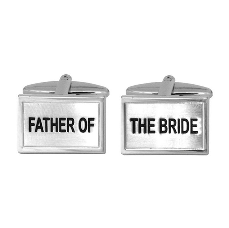 Father of the Bride pair of Wedding Cufflinks