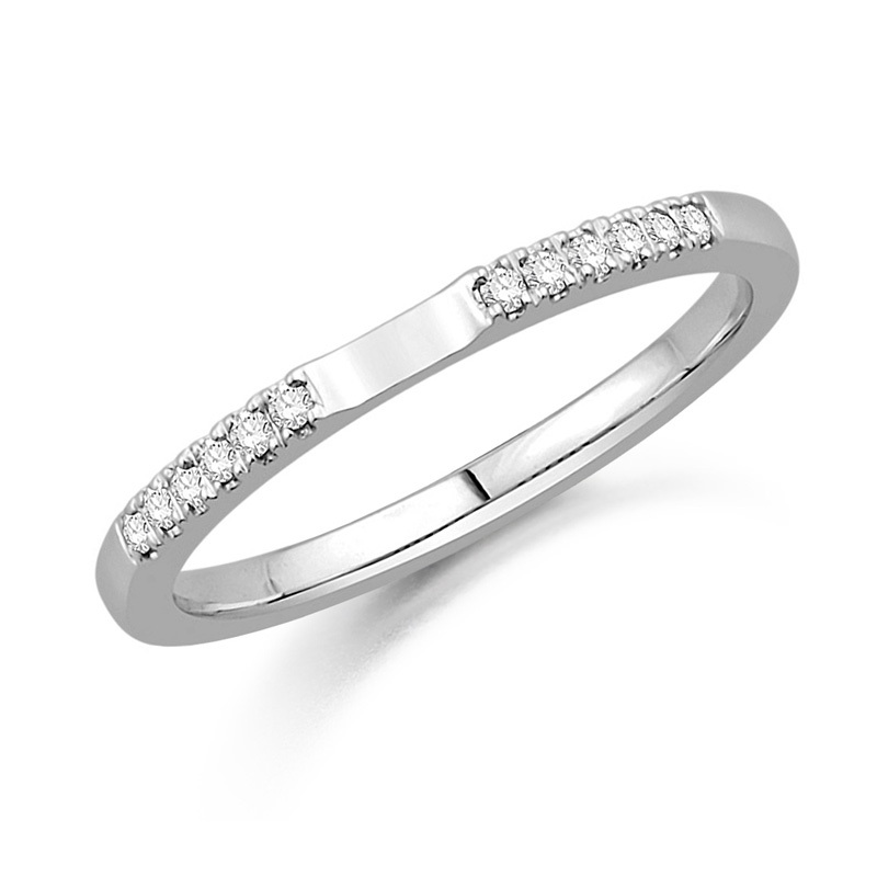 18ct White Gold And Diamond Wedding Ring