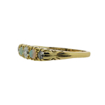 Pre-Owned Opal and Diamond Five Stone Ring