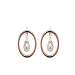 Unique & Co Silver earrings with shell pearl and rose gold plating