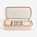 Blush pink Stackers large travel/petite jewellry box