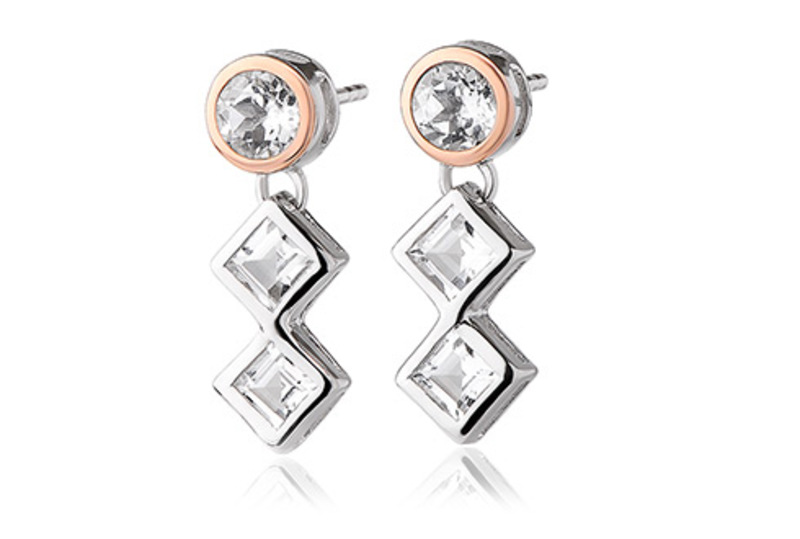 Clogau Welsh Royalty Anniversary White Topaz Earrings