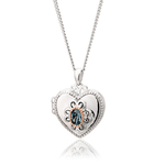 Clogau The Two Queens Topaz Locket