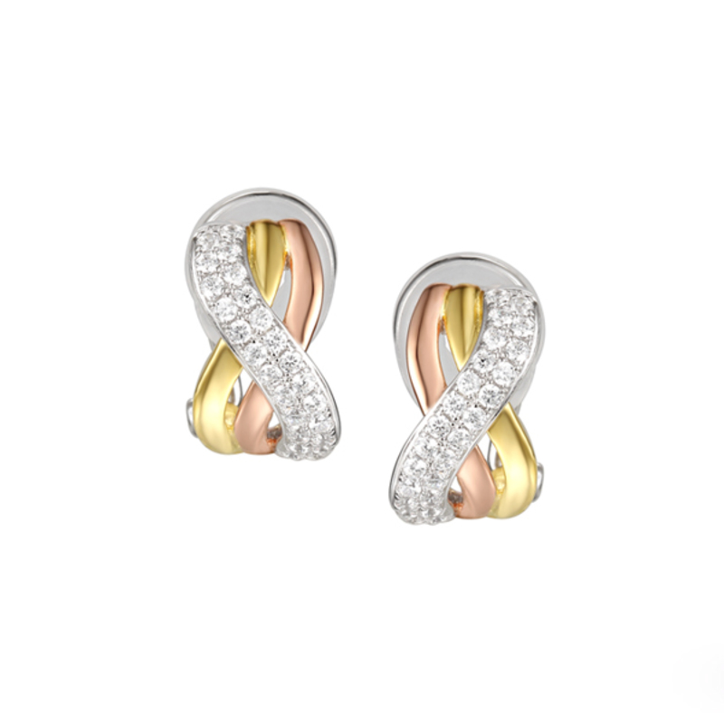 Sterling Silver Trio Clip Earrings Designed by Amore Argento
