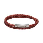Unique & Co Ladies Red Leather Bracelet
