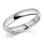 18ct White Gold Plain Wedding Ring