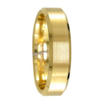 9ct Yellow Gold Satin Finished Wedding Ring